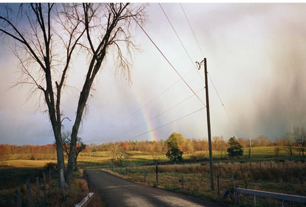 Providenceからの帰り道で見た虹