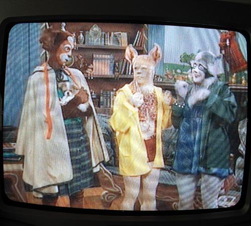 モントリオールのホテルにて久しぶりに見るテレビ。