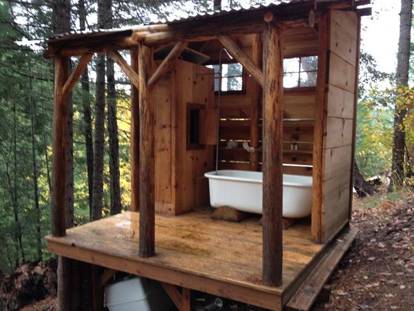 素晴らしい眺めだが、寒いお風呂