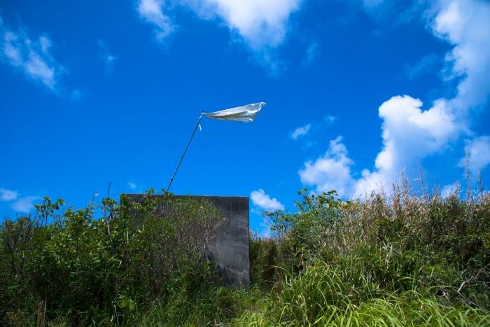 レーダー基地の予定地の山の上